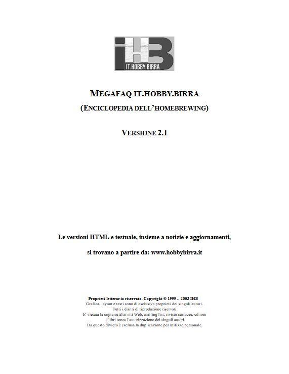 MEGA FAQ – L'Enciclopedia dell'homebrewing Vers. 2.1